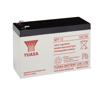 Picture of 12V / 7,0 Ah ΜΠΑΤΑΡΙΑ YUASA NP7-12
