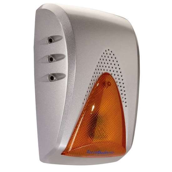 Picture of Self-powered siren with orange LED flashlight - Antidrilling protection - IP44 - RSC® technology Aluminum casing