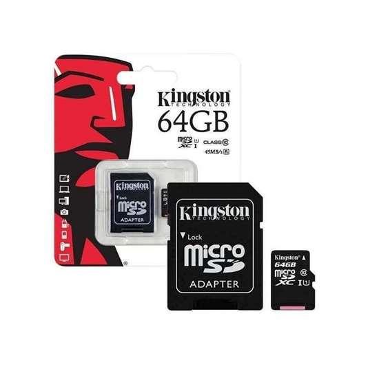 DC1G6 KINGSTON MICRO SD CARD 64GB, CLASS10, UHS-I