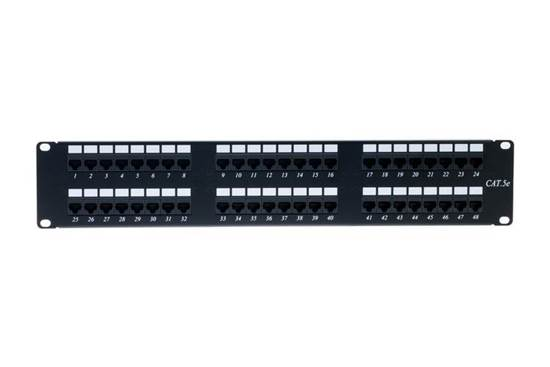 PAN-5U-48HD PATCH PANEL 48ΑΡΙ 1U UTP CAT5e