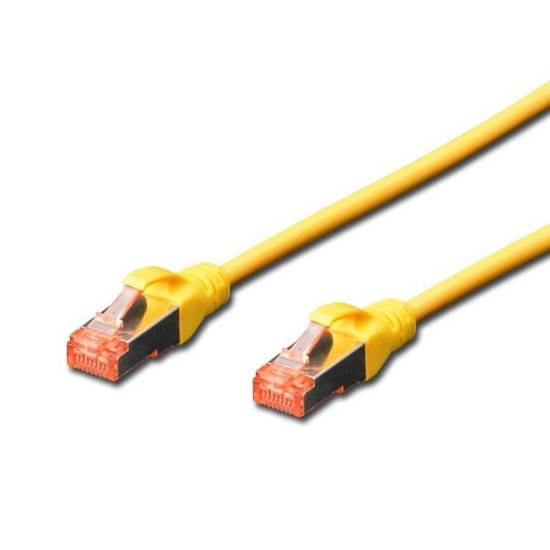 PAT-6SF005Y PATCH CORD CAT6A STP 0.5M ΚΙΤΡΙΝΟ