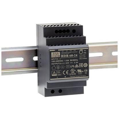 Εικόνα της HDR-60-24 ΤΡΟΦΟΔΟΤΙΚΟ MEAN WELL ΡΑΓΑΣ 60W 24V 2.5A