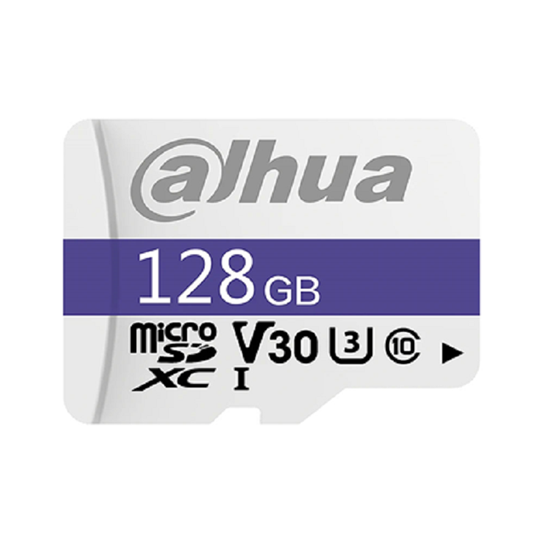 TF-C100/128GB DAHUA MICRO SD C10/U3/V30 READ SPEED 95MB/S WRITE SPEED 38MB/S